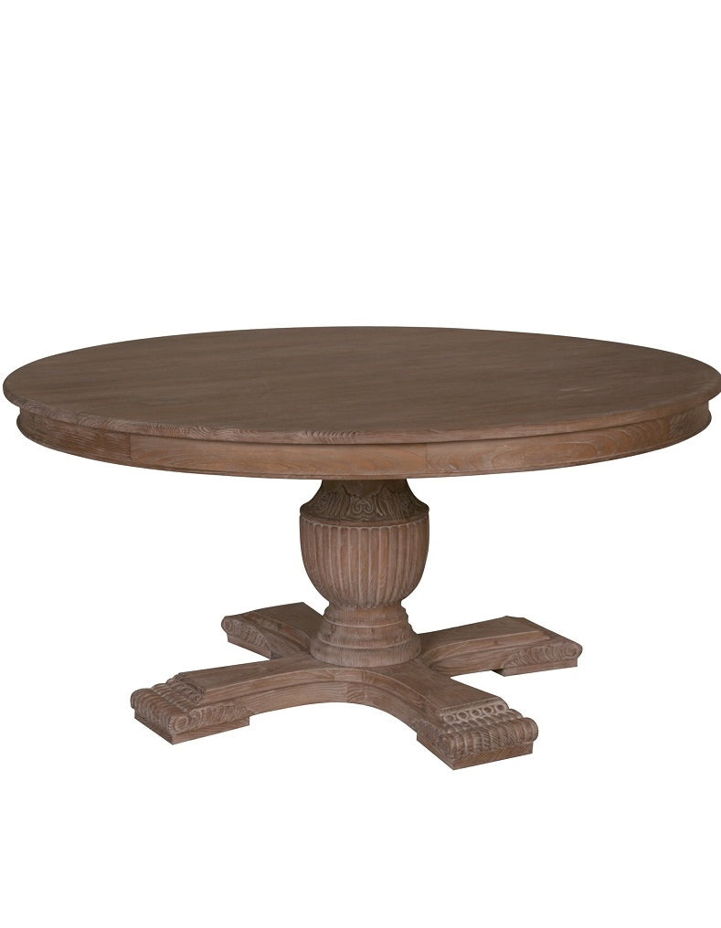Rochelle 140cm Round Dining Table  - All Rustic Brown