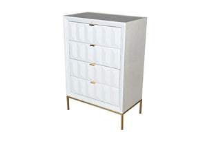 Verona White Gloss 4 Drawer Dresser