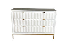 Load image into Gallery viewer, Verona White Gloss 6 Drawer Dresser