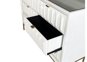Verona White Gloss 6 Drawer Dresser
