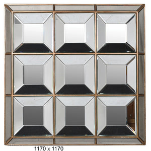 Large Squares Multipanel Wall Mirror