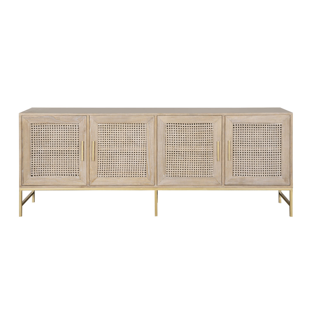 Avoca 4 Door Low Sideboard