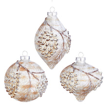 "Load image into Gallery viewer, 4"" TEXTURED PINECONE ORNAMENT"