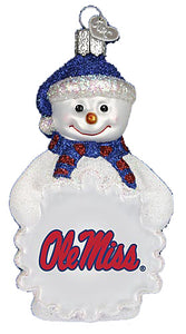 Mississippi Snowman Ornament