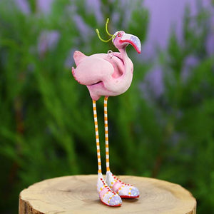 Patience Brewster Jambo Sheila Flamingo Mini Ornament