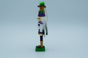 6″ Mardi Gras King Nutcracker ornament