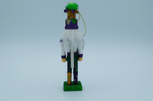 Load image into Gallery viewer, 6″ Mardi Gras King Nutcracker ornament