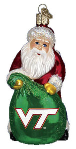 Virginia Tech Santa Ornament
