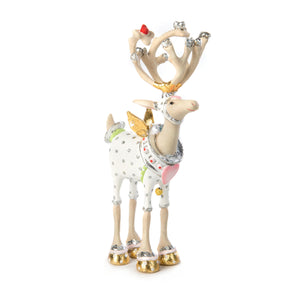 Patience Brewster Moonbeam Cupid Reindeer Mini Ornament