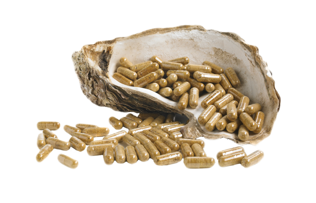 Oyster shell and capsules