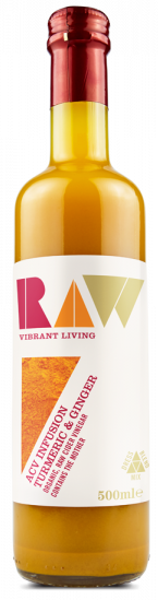 Raw Organic Apple Cider Vinegar Infusion with Turmeric & Ginger   500ml