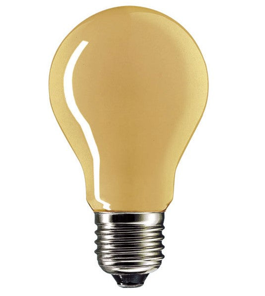 Amber Incandescent Light Bulb  GLS 240V 15W E27
