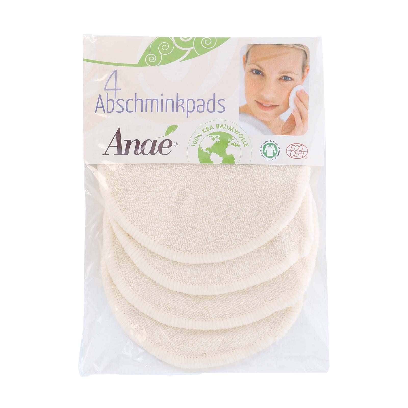 Reusable Make Up Remover Pads - certified organic cotton - 4 pack