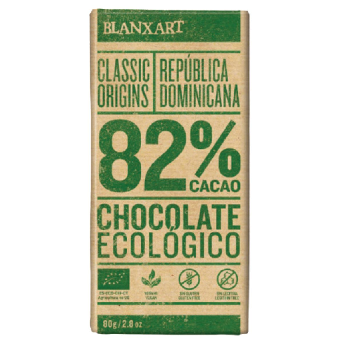 Organic 82% Dark Chocolate - Dominican Republic 80g