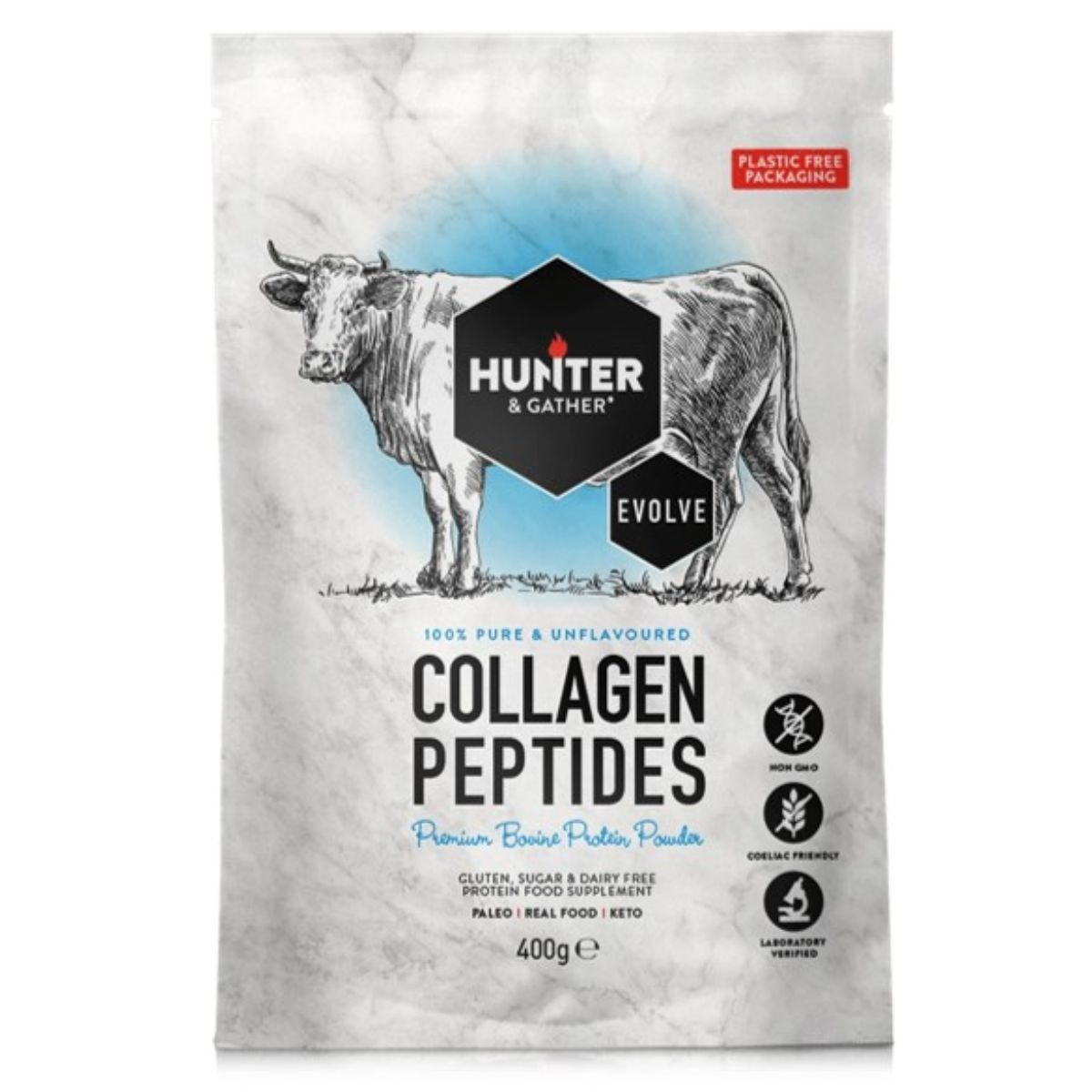 Collagen Powder -  Peptides - Bovine Protein Powder 400g
