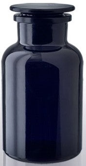 Miron Violet Glass Apothecary Jar with Glass Lid 250ml
