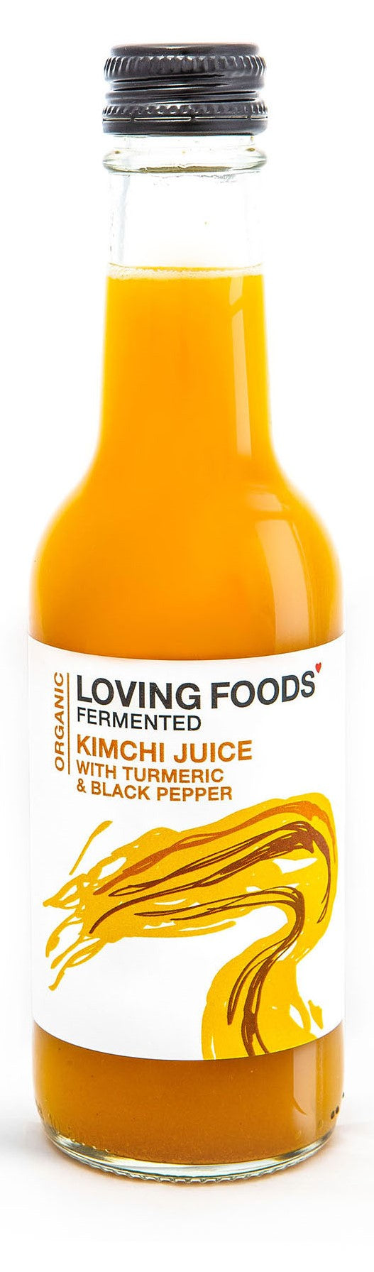 Raw Unpasteurised Kimchi Juice with Turmeric and Black Pepper - 250ml