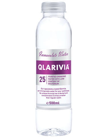 Qlarivia Deuterium Depleted Water approx 25ppm - 500ml