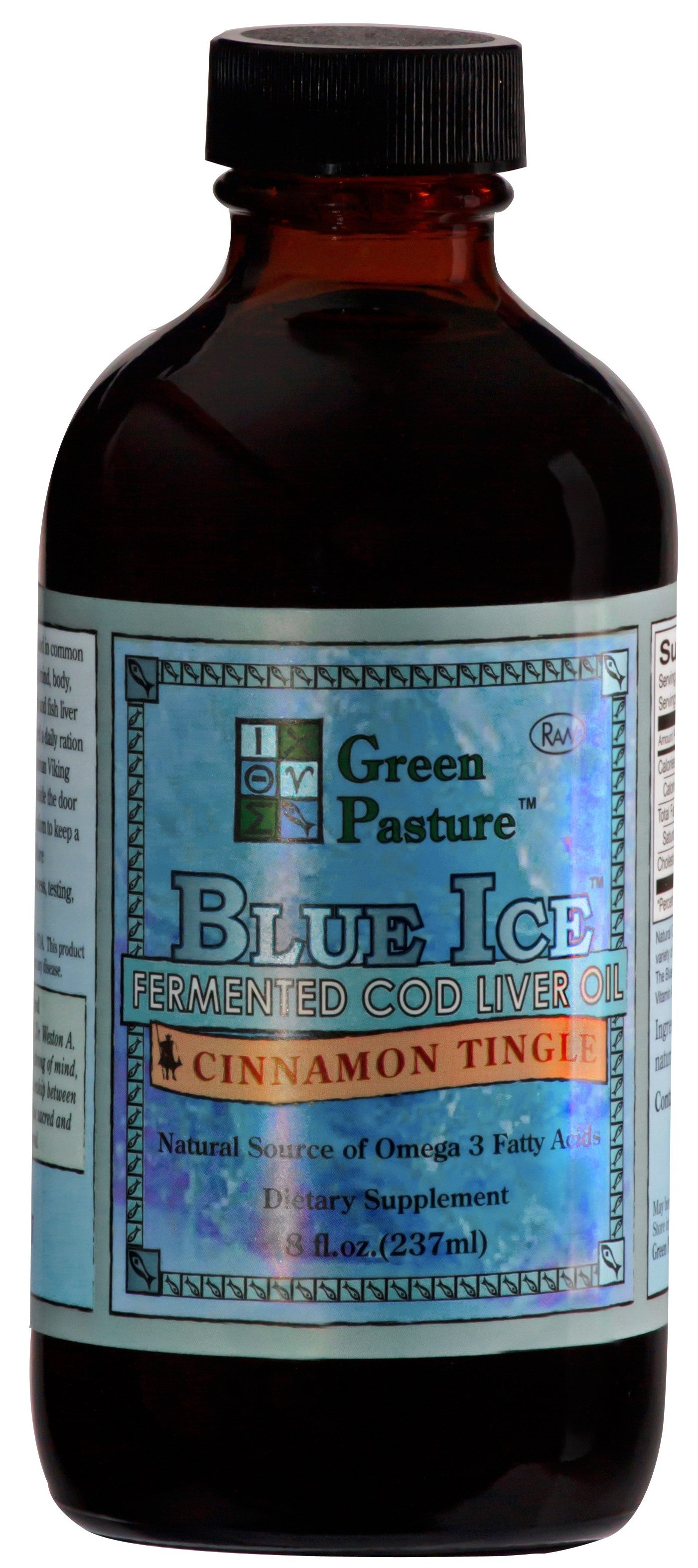 Blue Ice Fermented Cod Liver Oil Liquid 237ml - Cinnamon Tingle