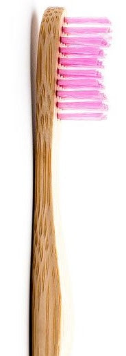 Adult Brush - pink, medium bristles bamboo toothbrush