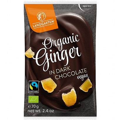 Organic Ginger in Dark Chocolate 70g