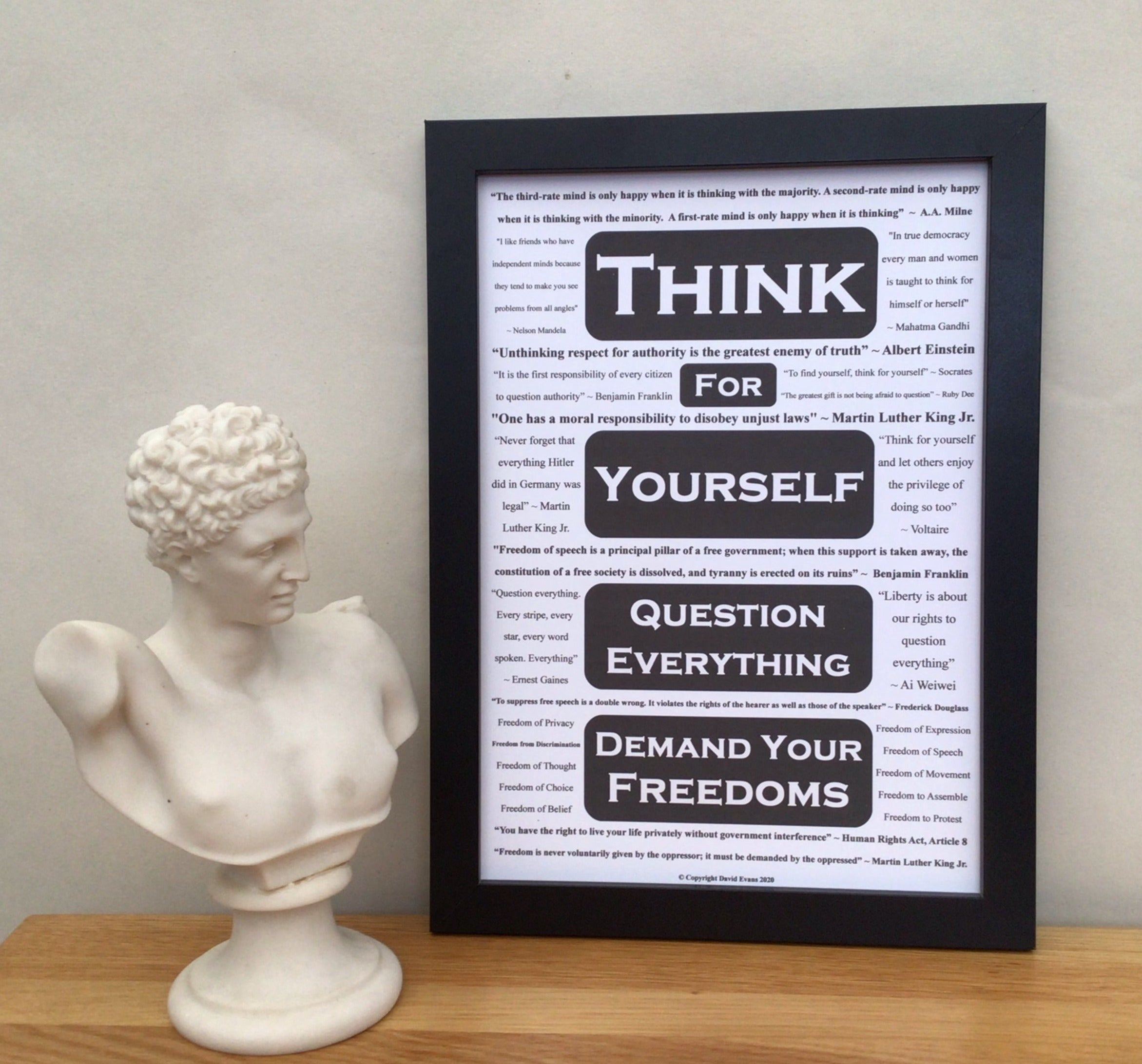 A thought provoking poster about our rights & freedoms - featuring 16 inspirational quotes