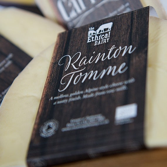 Organic Rainton Tomme Unpasteurised Farmhouse Cheese - approx 150g