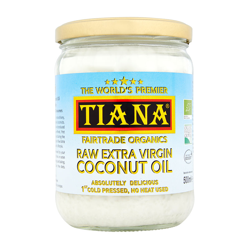 Fairtrade Organic Raw Extra Virgin Coconut Oil - 500ml