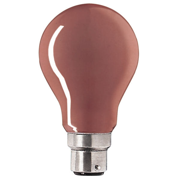 Red Incandescent Light Bulb B22d - standard bayonet - 25 W