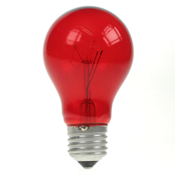 Red Incandescent Standard Bulb - E27 Standard Screw - 25W