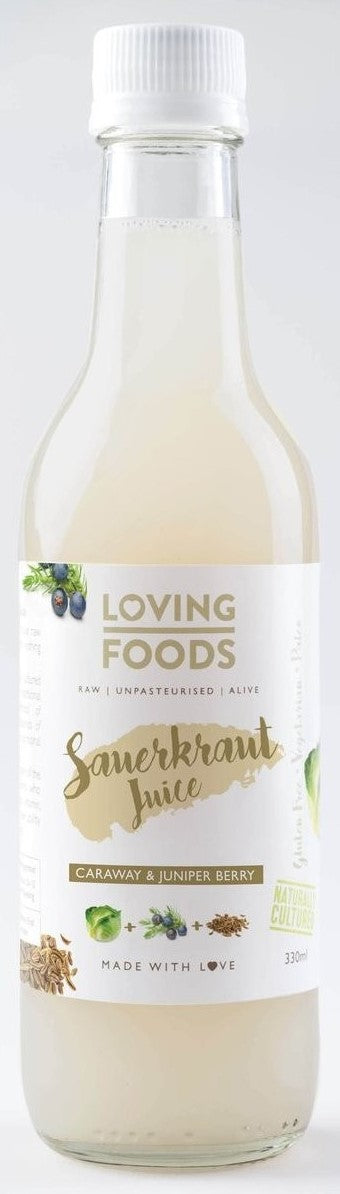 Raw Unpasteurised Sauerkraut Juice with Caraway and Juniper - 250ml