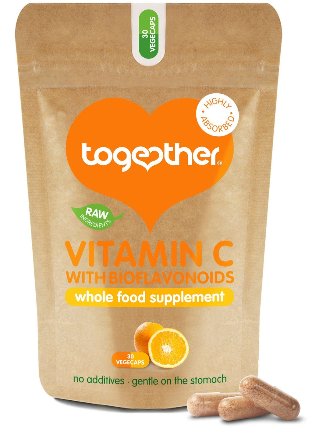 Together Vitamin C with Bioflavoniods 30 caps