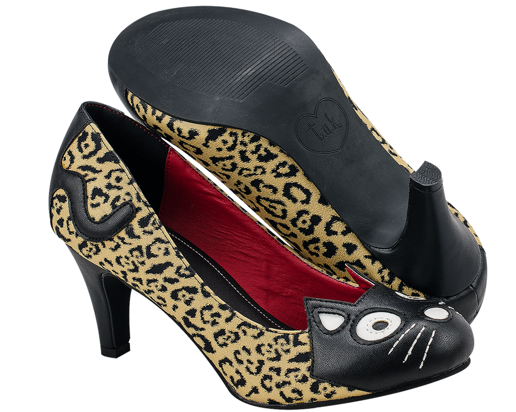 Leopard Kitty Heels