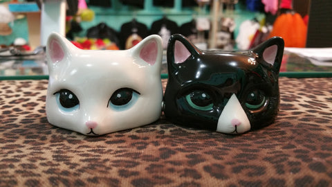 Peeking Cats Salt & Pepper Shakers