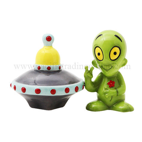 Alien and Saucer Salt & Pepper Shakers