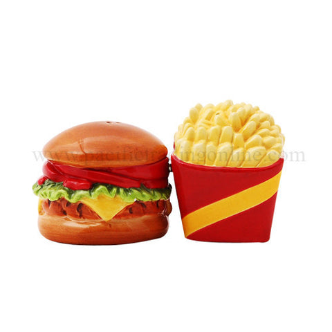 Burger and Fries Salt & Pepper Shakers