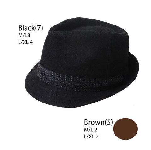 Wool Fedora with Black Band