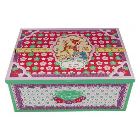 Cigar Box Style Sewing Tin