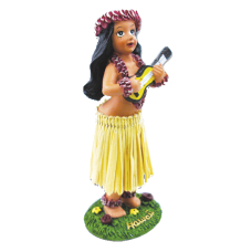 Miniature Hula Girl with Ukulele