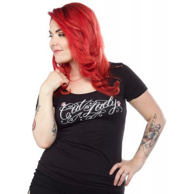 Sourpuss Cat Lady Scoop Tee