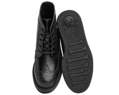 Black Wingtip Creeper Boots