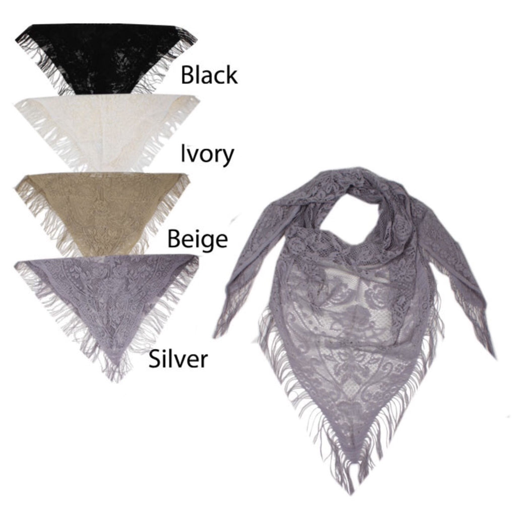 Triangle Lace Scarf