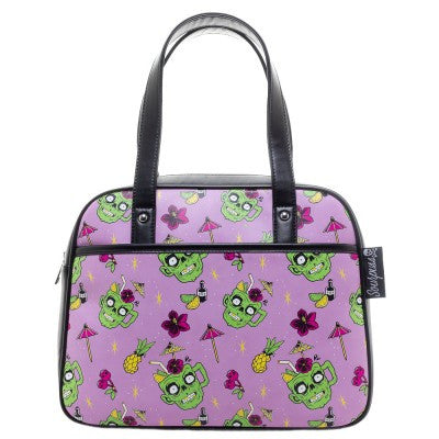 Sourpuss Zombie Drinks Bowler Purse