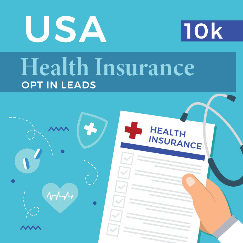 USA Health Insurance opt-In Leads - 10k