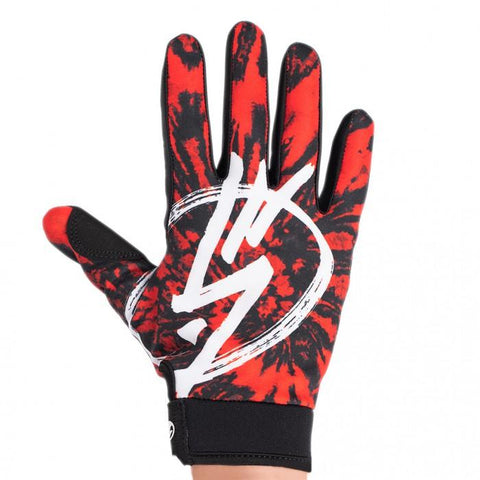 Shadow Jr. Conspire Gloves - Red Tie Dye | BMX