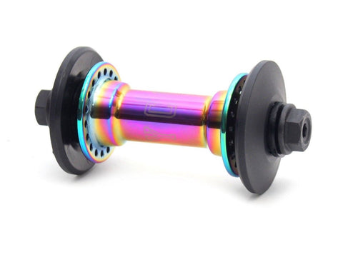 Colony Wasp Front Hub Rainbow at . Quality Hubs from Waller BMX.