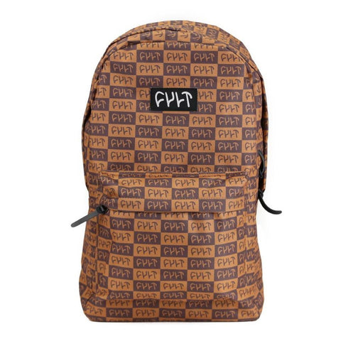 Cult Designer Backpack - Brown at . Quality Backpacks from Waller BMX.