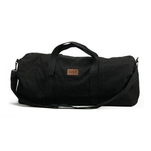 Cult Leather Patch Duffle Bag - Black at . Quality Backpacks from Waller BMX.