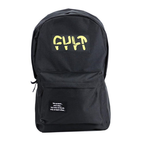 Cult Sicko Backpack - Black at . Quality Backpacks from Waller BMX.