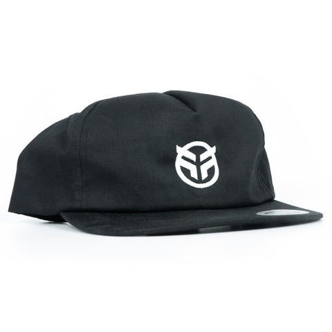 Federal Logo 5 Panel Snapback Cap - Black